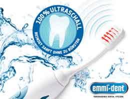 Emmi-dent Ultraschall-Zahnreinigung – tägliche Prophylaxe bei Parodontitis u.v.m.