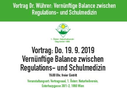 Vortrag Dr. Wührer: Vernünftige Balance zwischen Regulations- und Schulmedizin