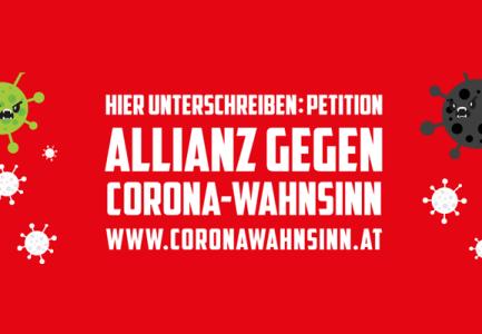 Petition gestartet: Jetzt reicht's! Allianz gegen den Corona-Wahnsinn