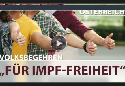 """Österreich: Volksbegehren """"FÜR IMPF-FREIHEIT"""""""