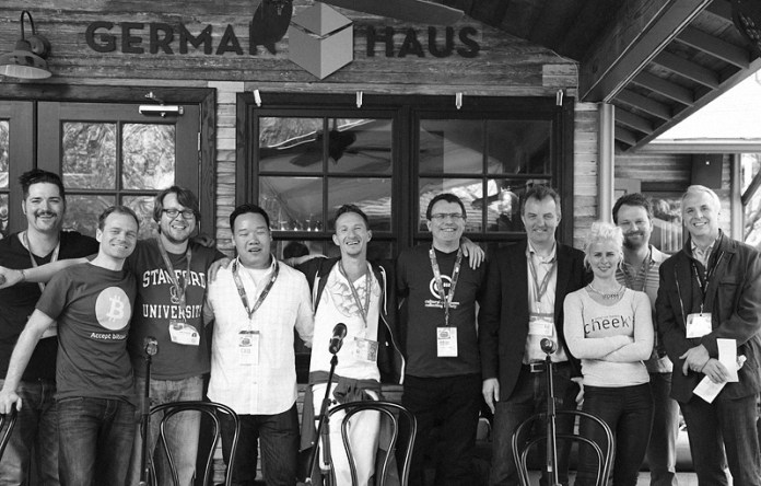 """Moderating """"The Interactive Dating Game"""" with startups and VCs @ German Haus, SxSW Austin TX 2014 with Rudy Garza of G-51 Captial & Dai Truong of Austin Ventures"""