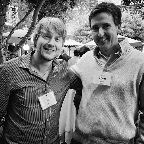 Hanging with Prof. Tom Byers of Stanford University, faculty director Stanford Technology Ventures Program.