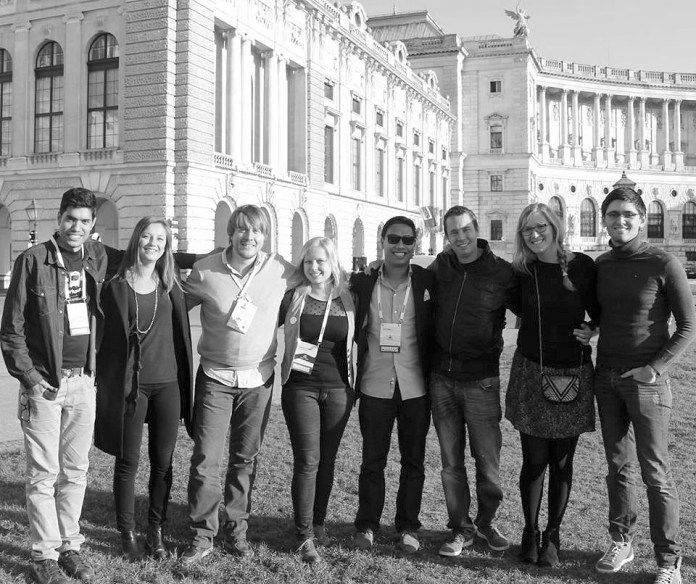 Hanging with ma epic peeps, aka key Startup Weekend / UP Europe peeps of awesomeness, Pioneers festival 2013, Vienna