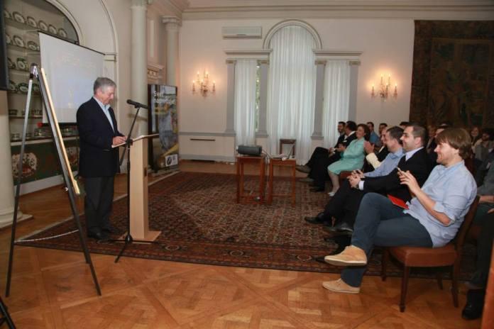 The Crown Prince opening Startup Weekend Belgrade