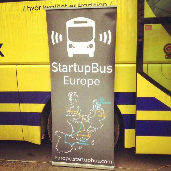 The Startup Bus camped on the LeWeb venue, Paris