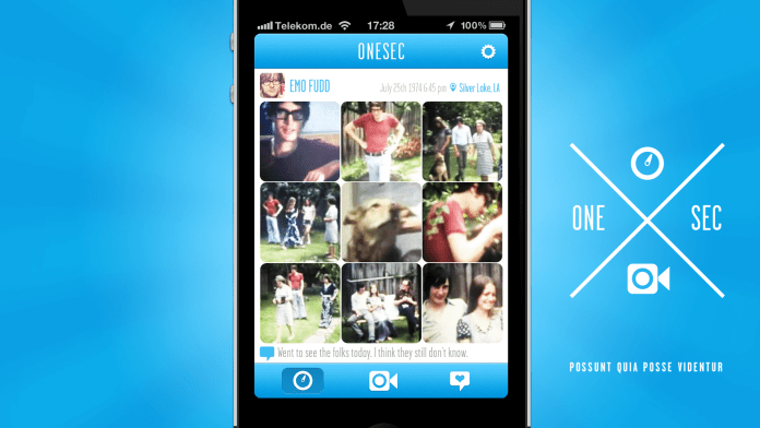 OneSec - An Instagram for One Second Videos, an experiment in crowd funding partially on a lark