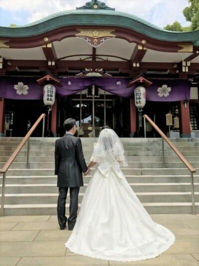 多摩川浅間神社で結婚式