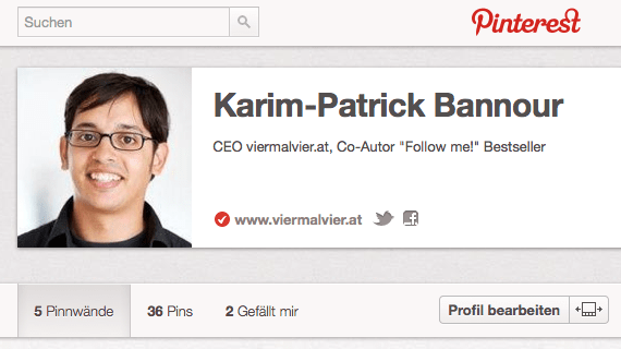 Pinterest-Account-Verifizierung