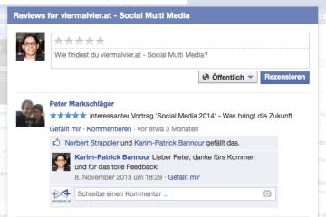 Facebook Rezensionen Bewertungen