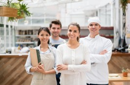 Staff working at a restaurant