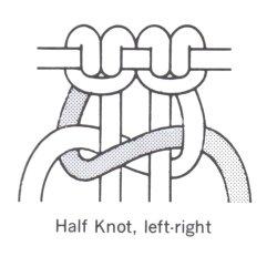 macrame half knot example