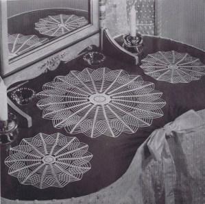 crochet vanity buffet pattern set
