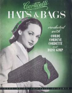 1930 crochet knit hat bag patterns