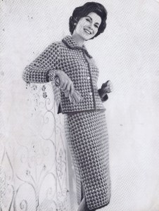 Two Piece Knitted Tweed Suit