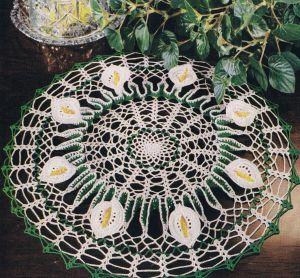 vintage doily pattern calla lily
