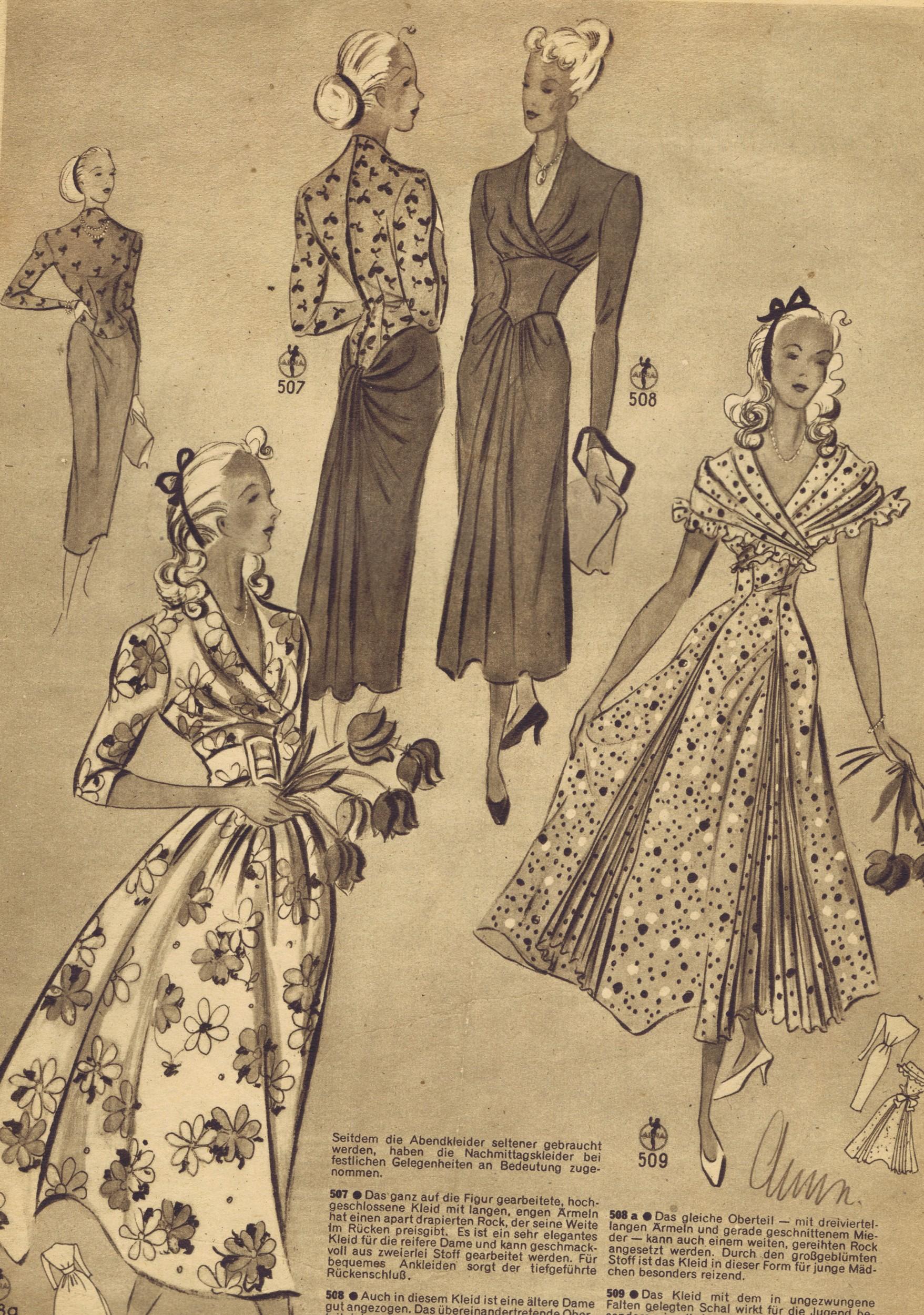 Free vintage 1940s sewing patterns german die alma mode vintage free vintage 1940s sewing patterns german die alma mode jeuxipadfo Choice Image