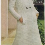 vintage 70s Crocheted Midi Coat cap pattern bear brand