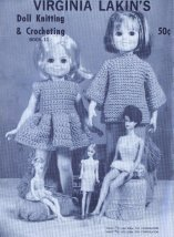 Free Vintage Pattern Give-Away Day 1 The Twelve Days of Christmas 11 Virginia Lakins Knitting Crochet Doll Clothes Patterns