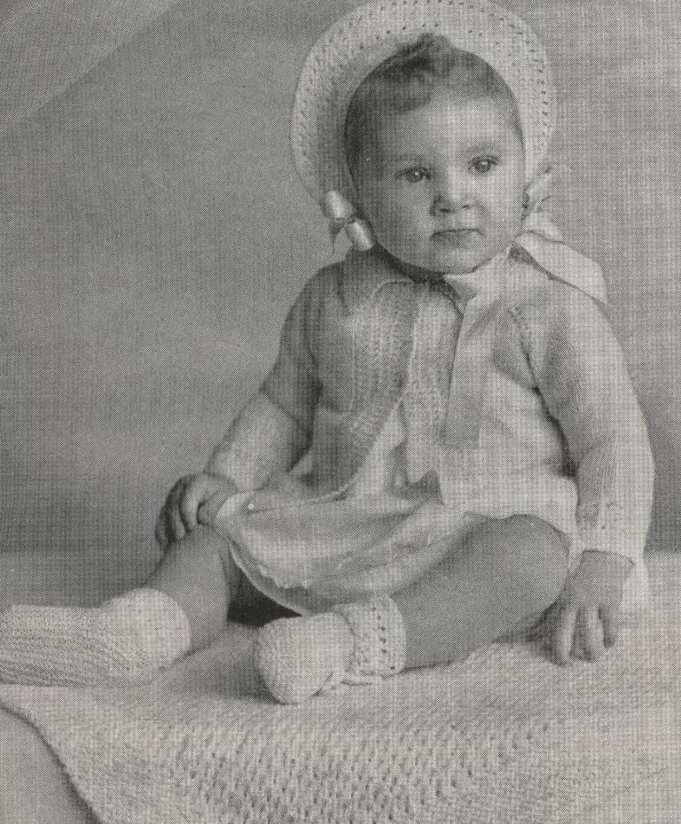 Girls Boys Baby Free Vintage Knitting Patterns Vintage