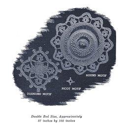 pie crust crochet diamond motif pattern