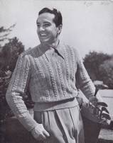 Vintage 40's Cable Knit Sweater Pattern
