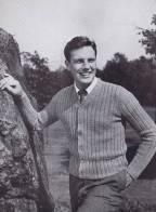 vintage pattern knitting cardigan mens