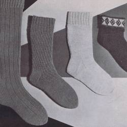 mens sock and stocking patterns knitted