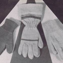 mittens gauntlet and drivers gloves mens knitting pattern
