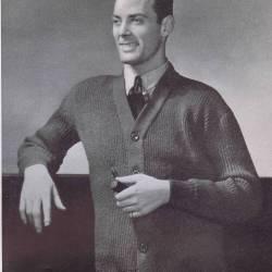 Heavy Ribbed Coat Sweater Knitting Pattern