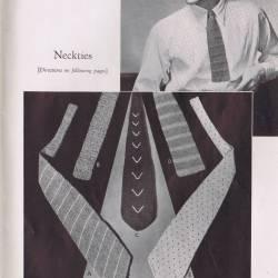 Vintage Mens Knit Crochet Neck Tie Pattern