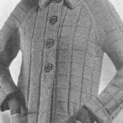 Three Piece Travel Suit Pattern Knit Coat Skirt Blouse