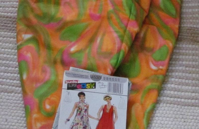 Vintage Orange Swirl Print vintage McCalls 9604 dress coat summer 2014