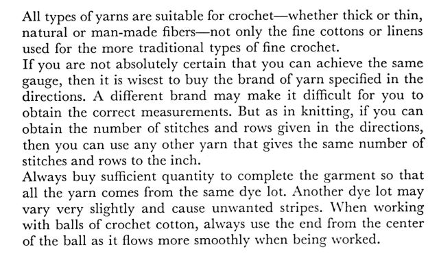 crochet yarn thread types