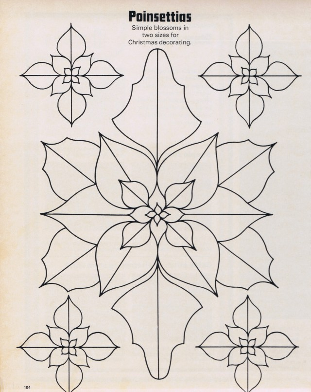 EEmbroidery Cross Sttich Blog Content christmas poinsettia motifs