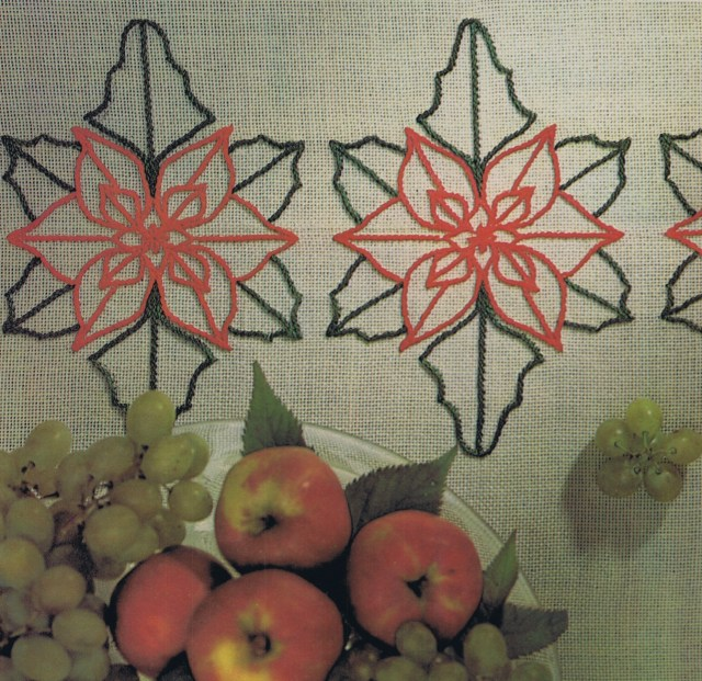 Embroidery Cross Sttich Blog Content christmas poinsettia motifs