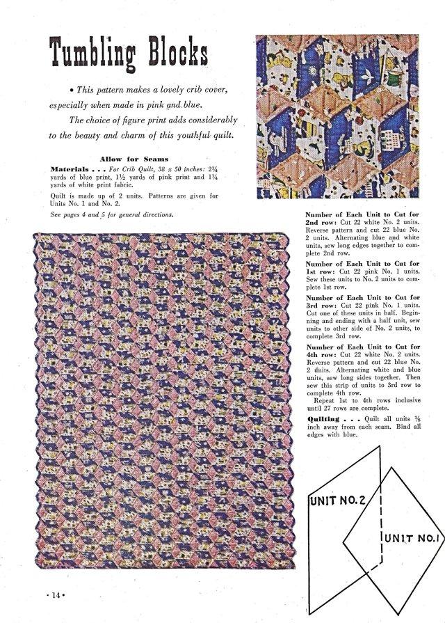 22 SC Quilts Tumbling Blocks 14