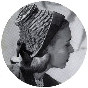 Our Cloche hat crochet pattern from Smart Bags, originally published by Spool Cotton Co, Book No. 209, in 1944.