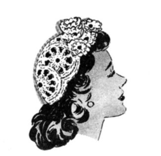 Vintage 40's Crochet hat - pattern. Looove it. I'm making this - wonder how it'll turn out.