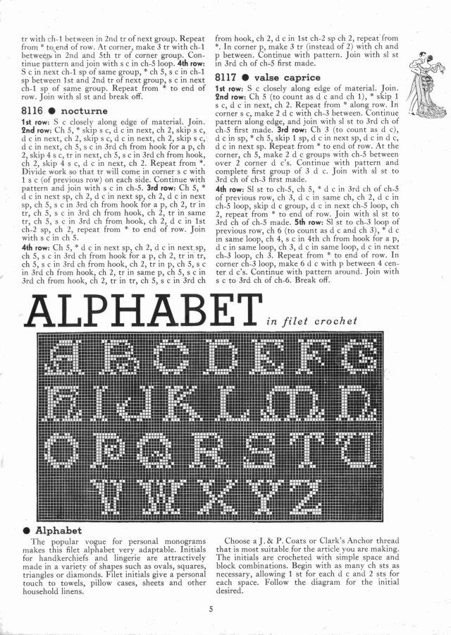 alphabet filet crochet