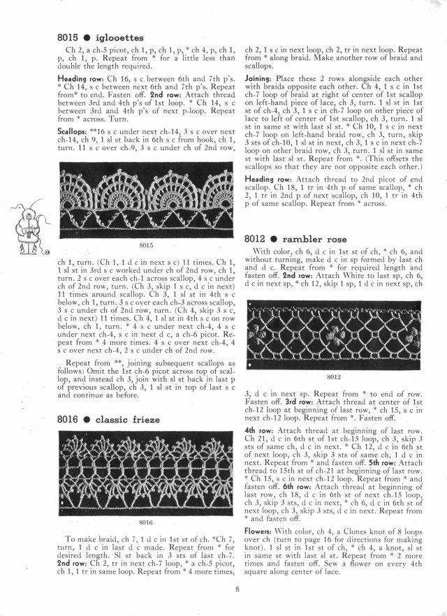 iglooettes classie frieze rambler rose edging patterns