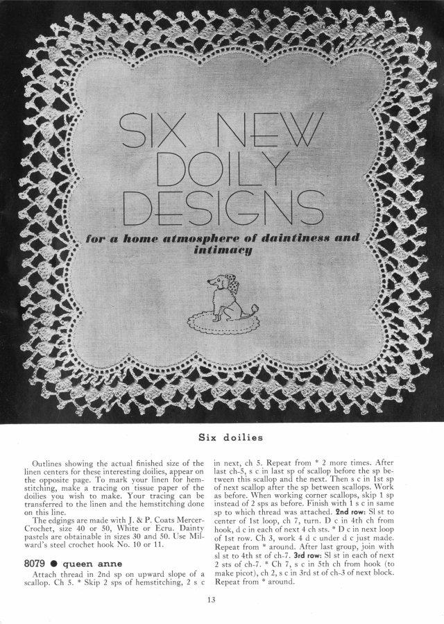 56 SC BOOK OF EDGINGS 1930s 13