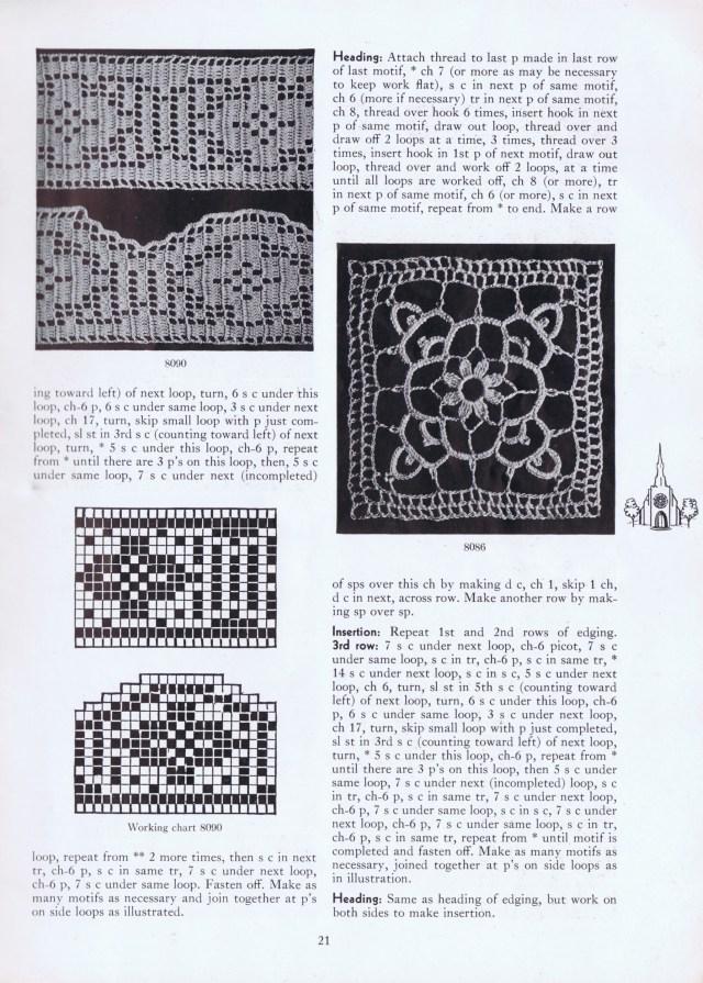 insertions vintage filet crochet edges patterns