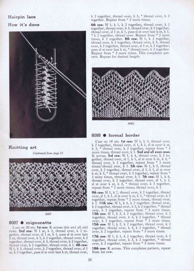 hairpin lace vintage patterns edgings | knitting patterns