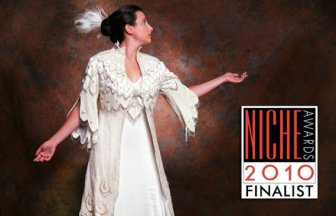 HOLIDAY SALE White Peacock Coat NICHE Awards Finalist Fabulous Couture Silk Pearl Beaded Wedding Coat By MaryGwyneth