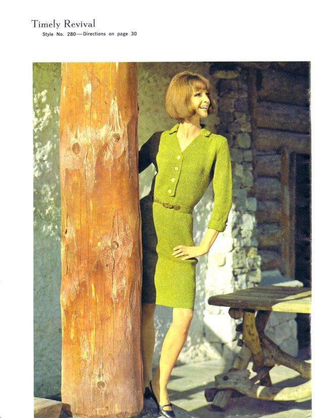 Deliciously Fresh Vintage Dress Knitting Pattern