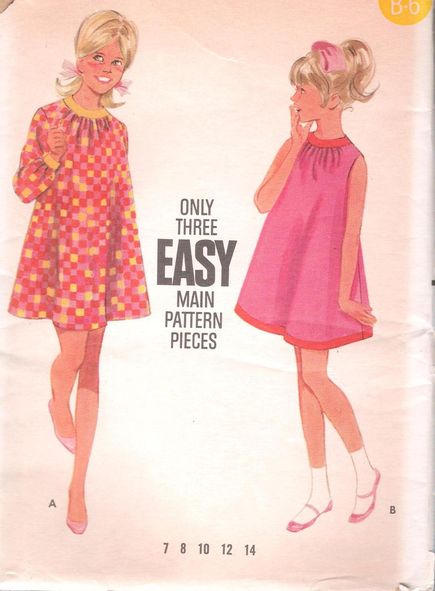 4747 Butterick Girls Tent Dress Breast 30 Inches
