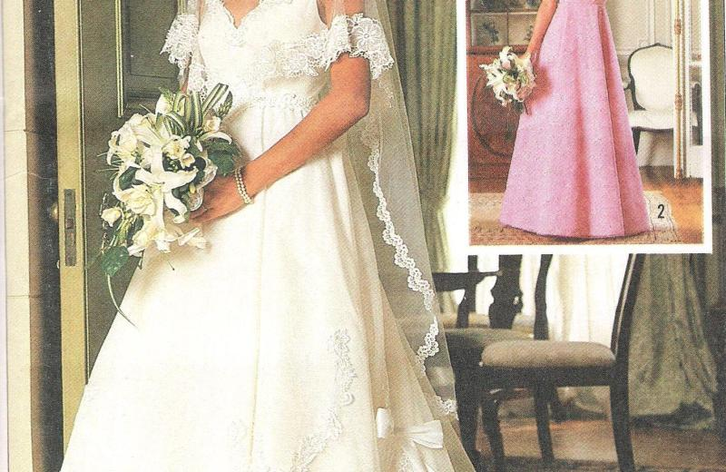 7260 Simplicity Wedding Dress Sewing Pattern Bust 30 Inches