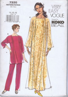 7335 Vogue pants tunic caftan
