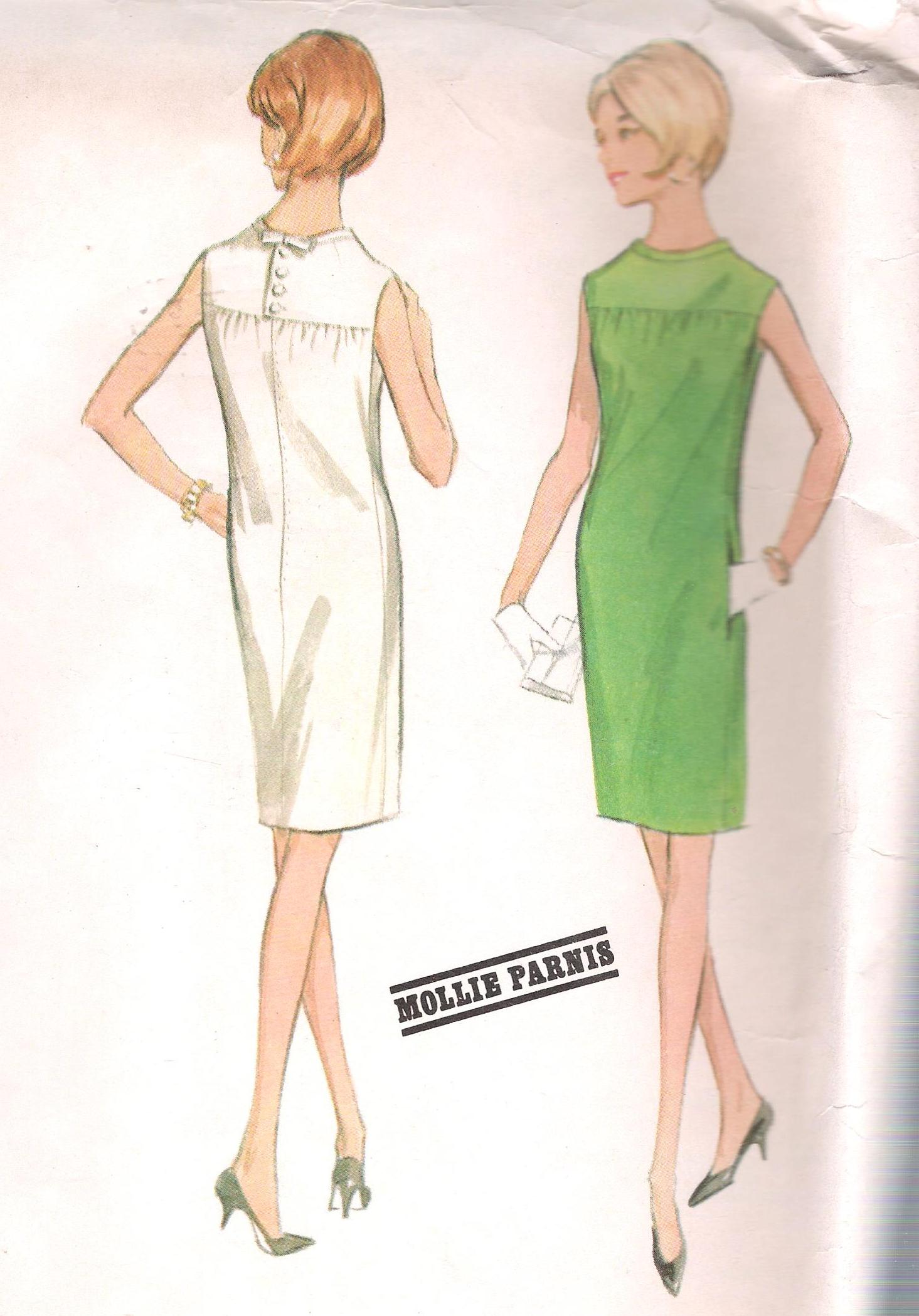 8519 Sheath Dress Vintage McCalls Sewing Pattern Bust 32 Inches