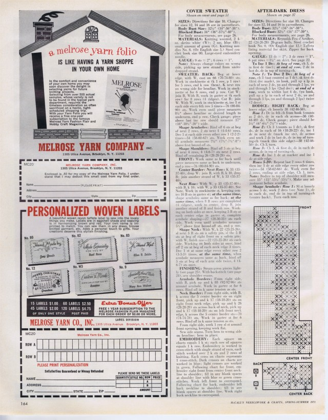 McCalls Needlework Spr Sum 1971 164
